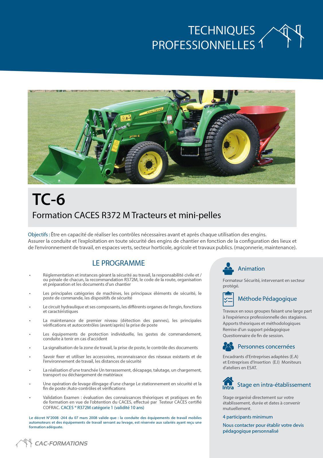 CAC FORMATIONS Des formations conçues spécialement pour les encadrants du travail protégé et adapté