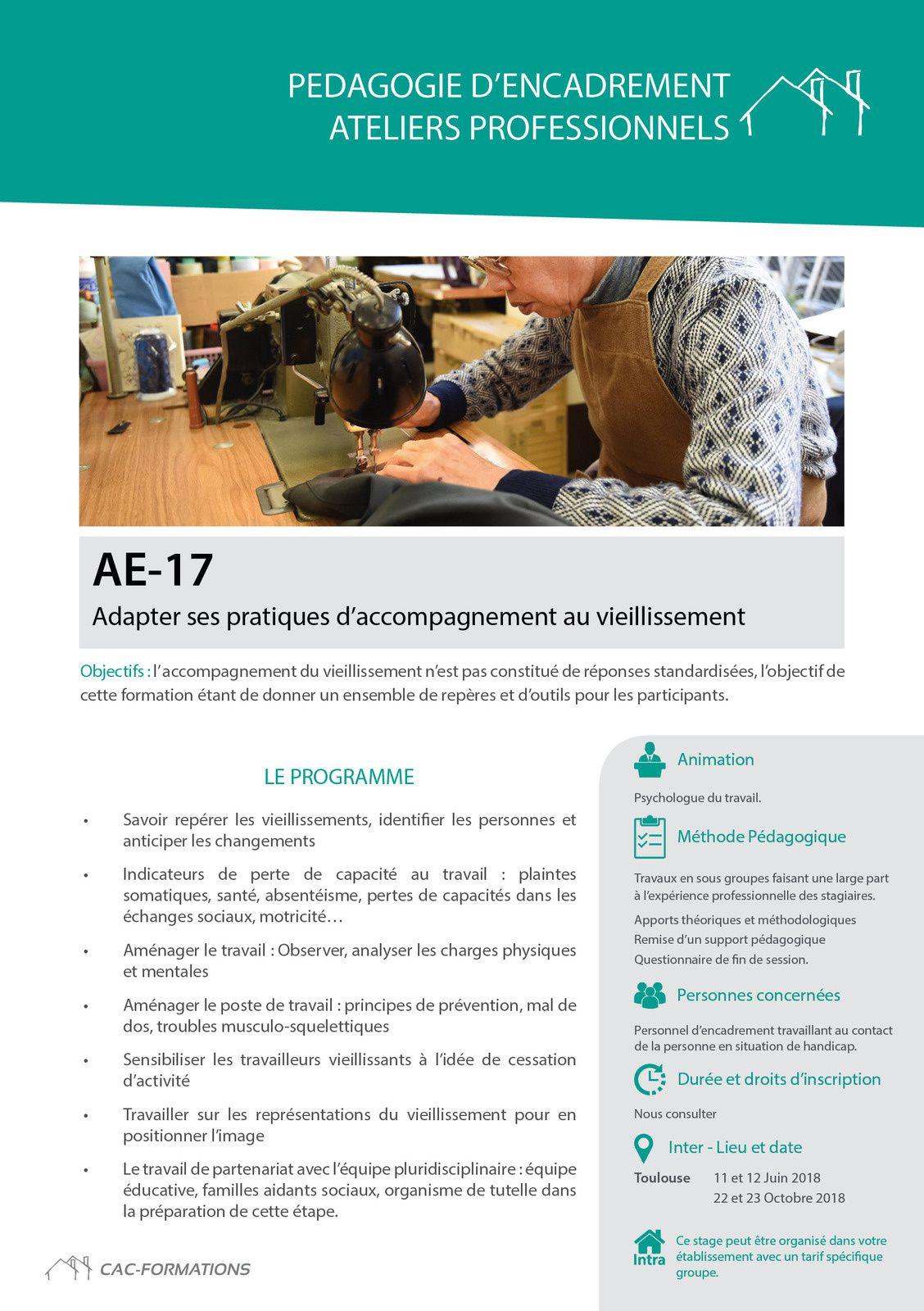 Moniteurs d'ateliers,encadrants :Des besoins importants en formation continue en 2019.