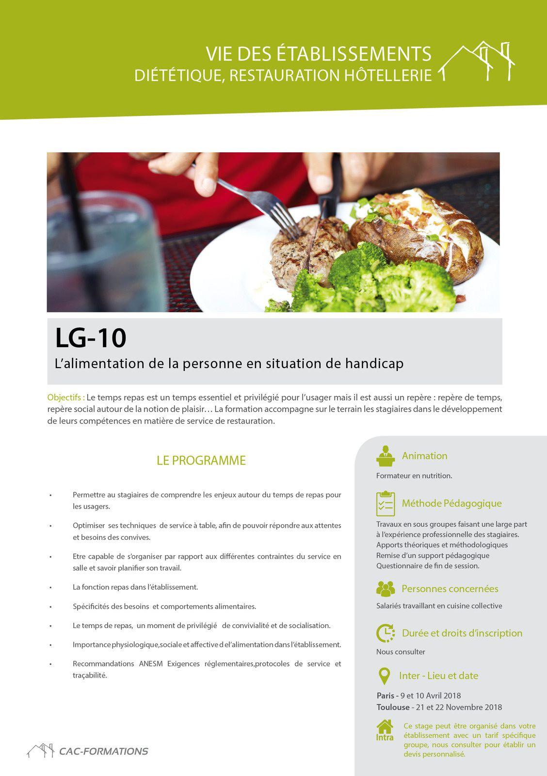 des formations cuisine diététique adaptées :consulter le catalogue www.cac-formations.net