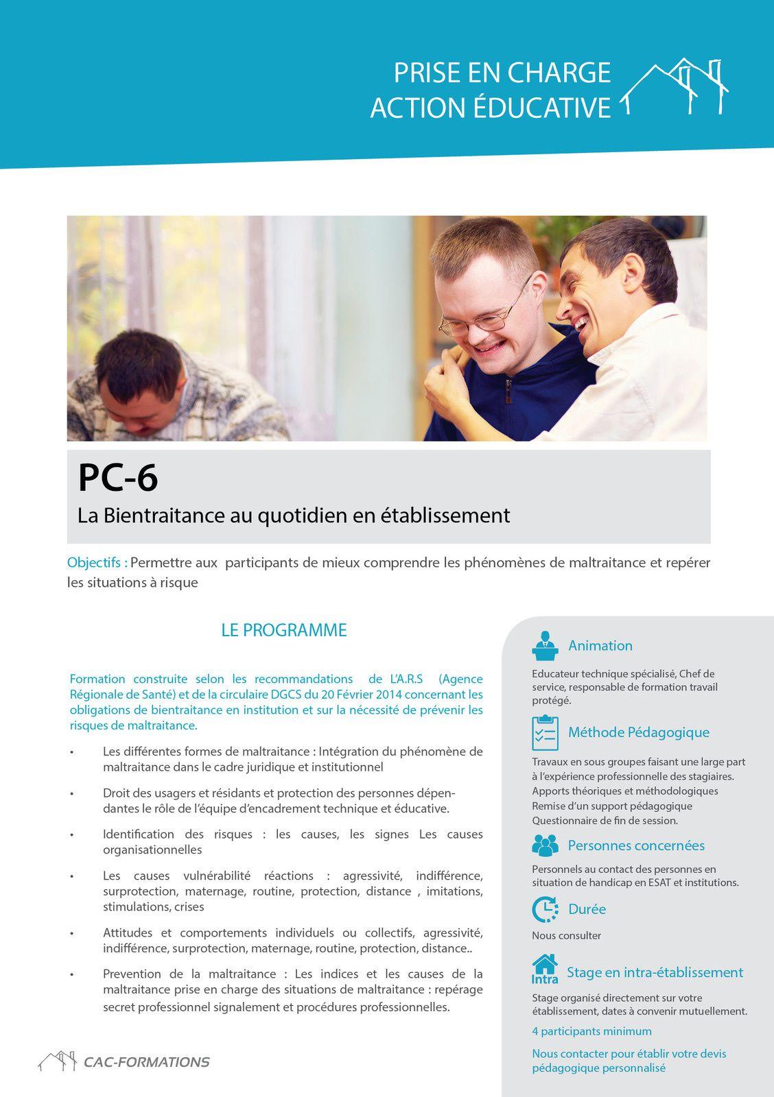 des formations adaptées à la prise en charge psychique en ateliers:  www.cac-formations.net