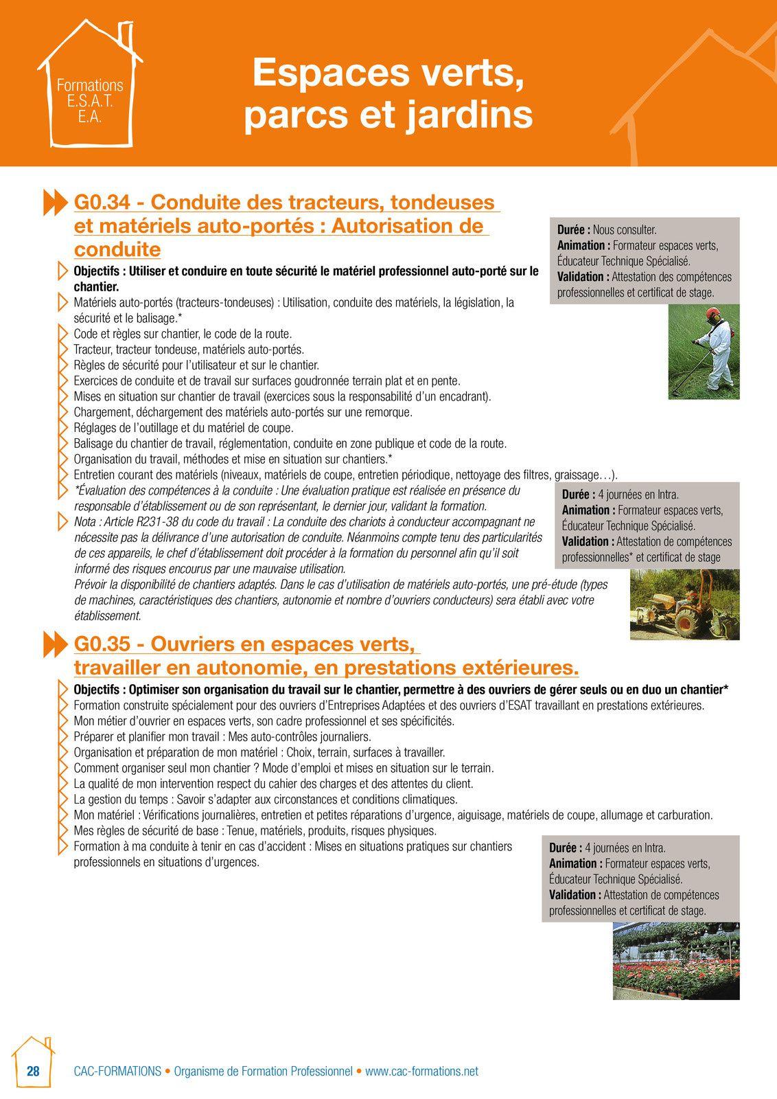 des formations adaptées en espaces verts accessibles également dans le cadre du CPF: :wwwmoncpf@overblog.fr
