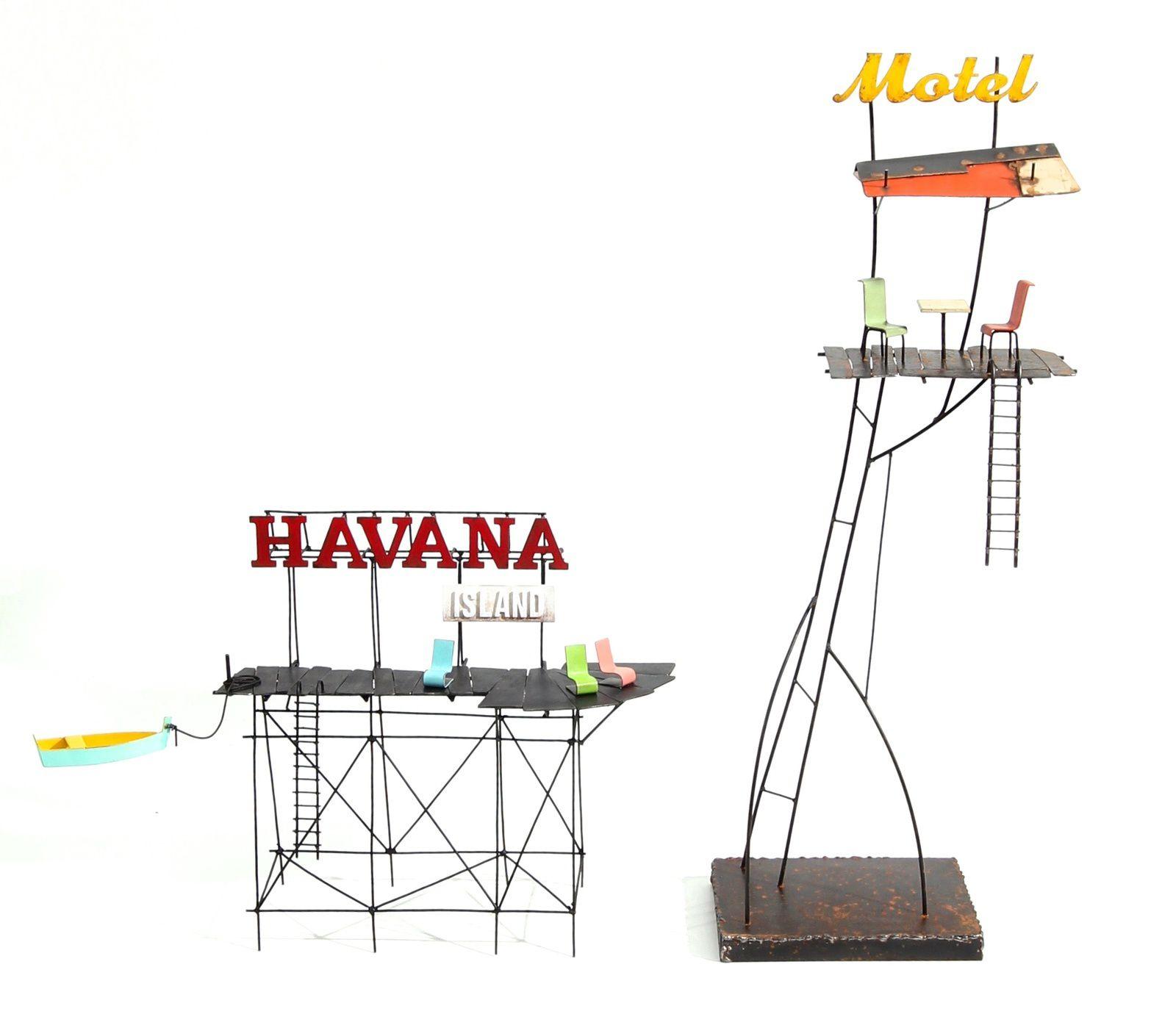 Summertime, h: 66 cm - Motel, h: 66 cm - Havana island, h: 32 cm - Paradise beach, h: 36 cm
