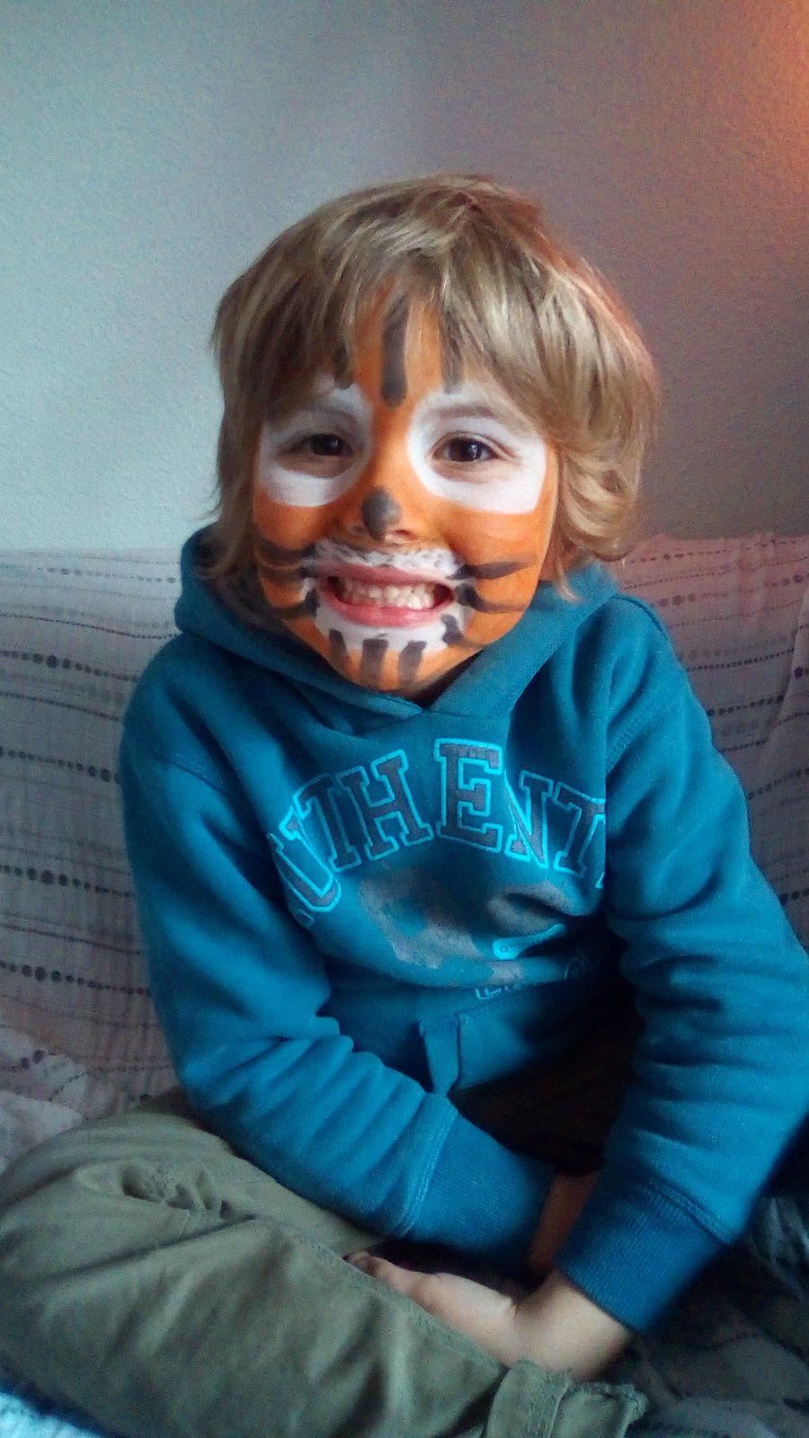 Petit Monsieur en tigre avec le kit bio Namaki