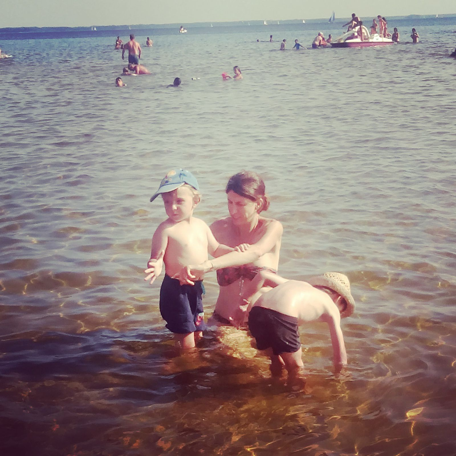 Baignade dans le lac de Lacanau
