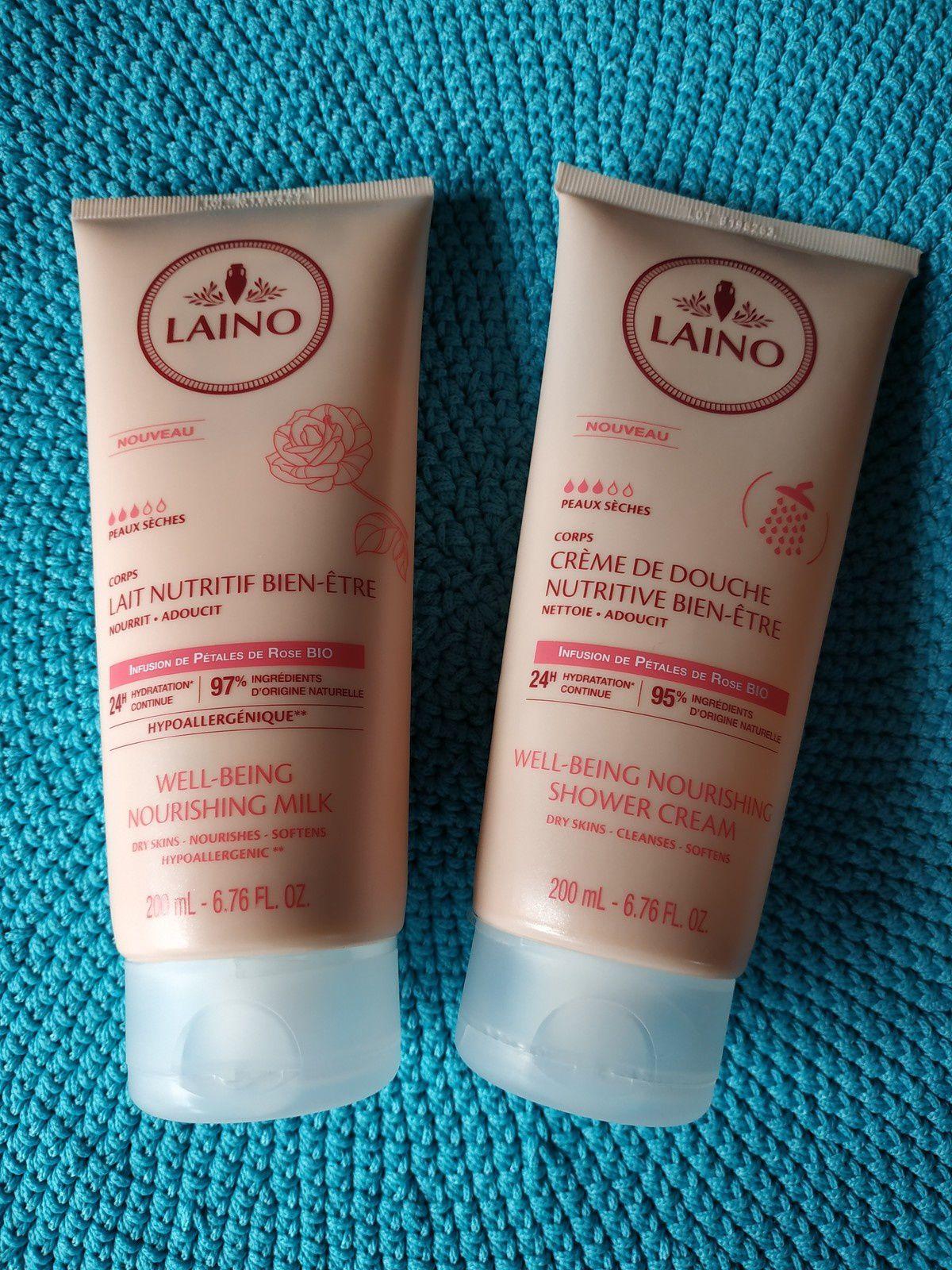 Crème de douche nutritive Rose + Lait nutritif Rose #Laino