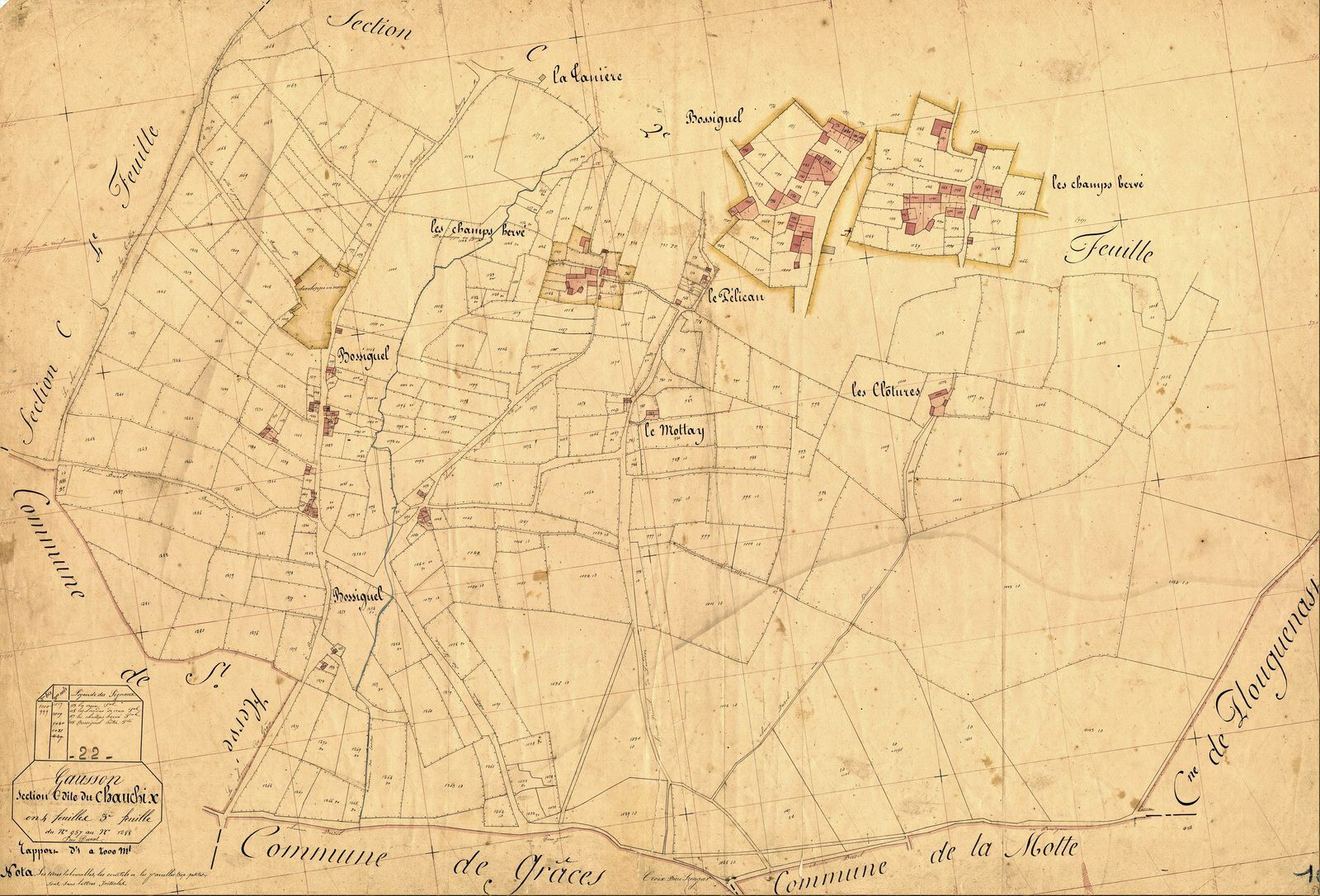 Gausson 1848 : Bossiguel