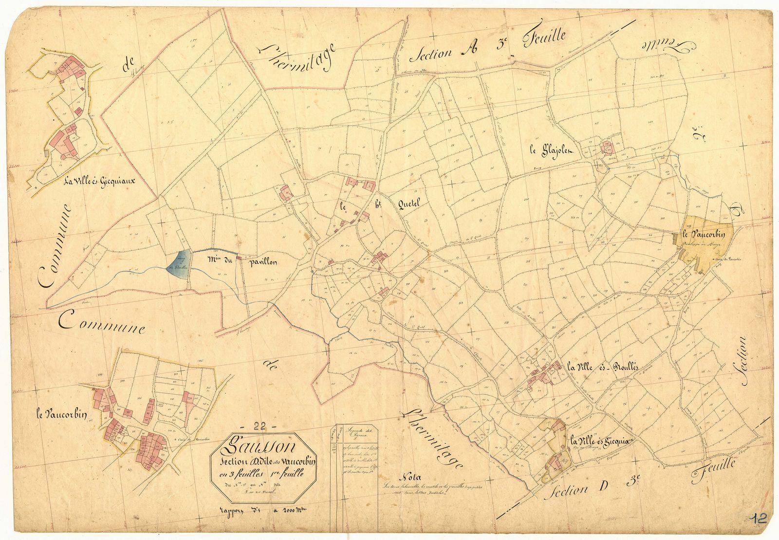 Gausson 1848 : du Pavillon au Vaucorbin