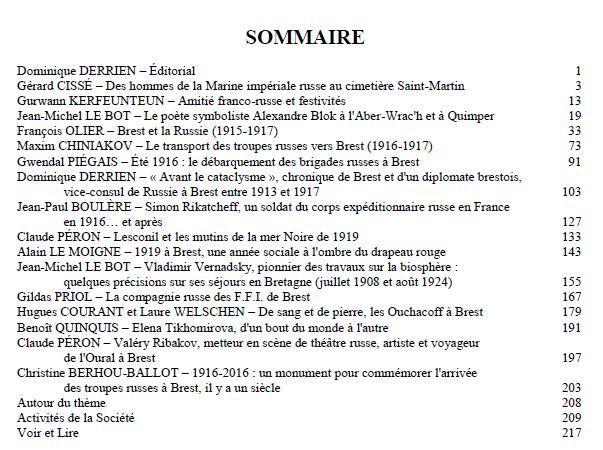 CAHIERS DE L'IROISE - n°230 - LES RUSSES EN BRETAGNE
