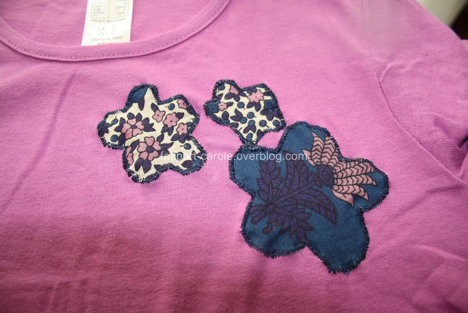 tee-shirt personnalisé couture