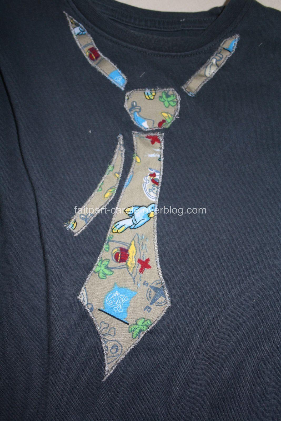 décoration cravate pour le petit Sacha (très smart)