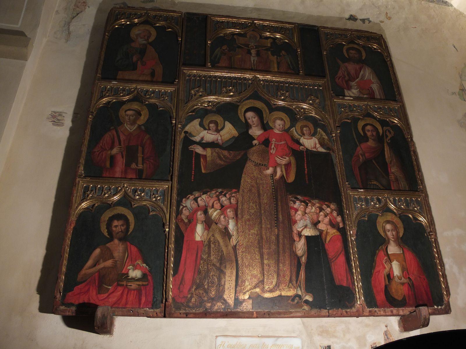 Le retable de Louis Bréa : La Vierge du Rosaire, vers 1500