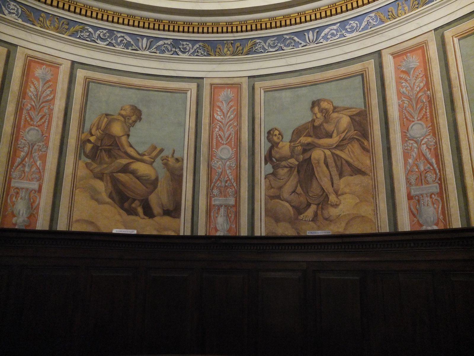 St Luc avec le Taureau ; St Matthieu avec l'Homme