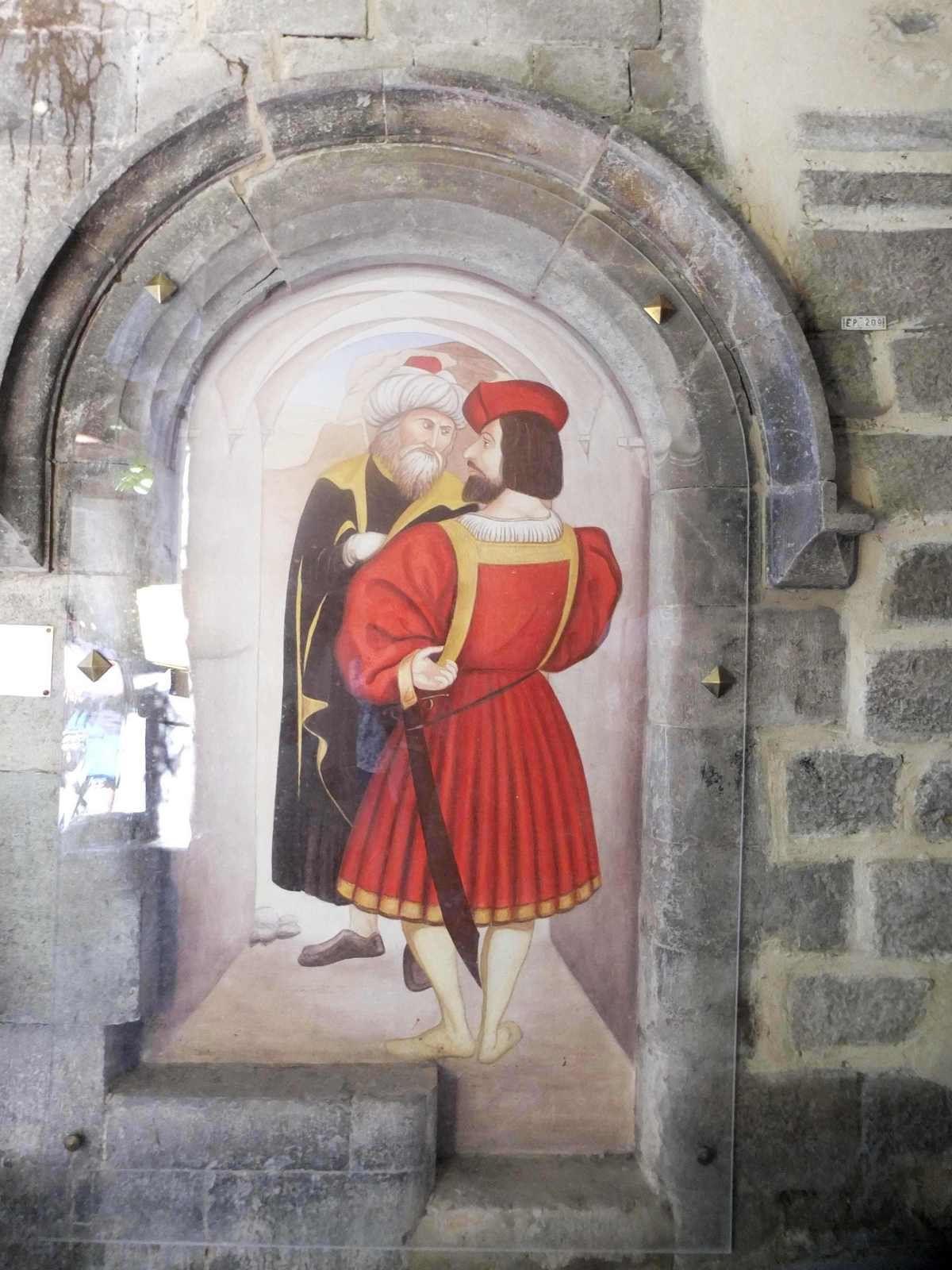 Hommage aux peintres de Notre-Dame-des-Fontaines sous une voûte aujourd'hui fermée