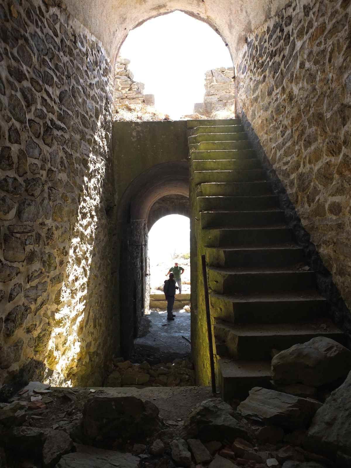 A l'intérieur du fort...