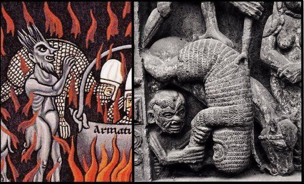 Le portail de Conques et l' Enfer de l'Hortus Deliciarum