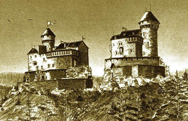 Restitutions des châteaux de Dreistein