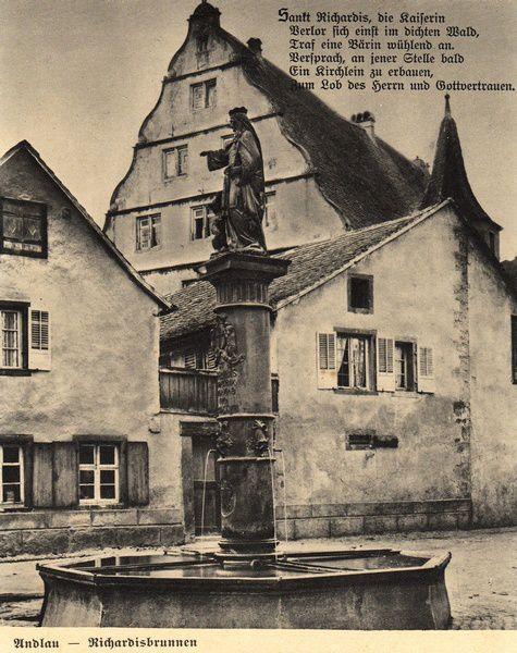La fontaine Sainte Richarde à Andlau