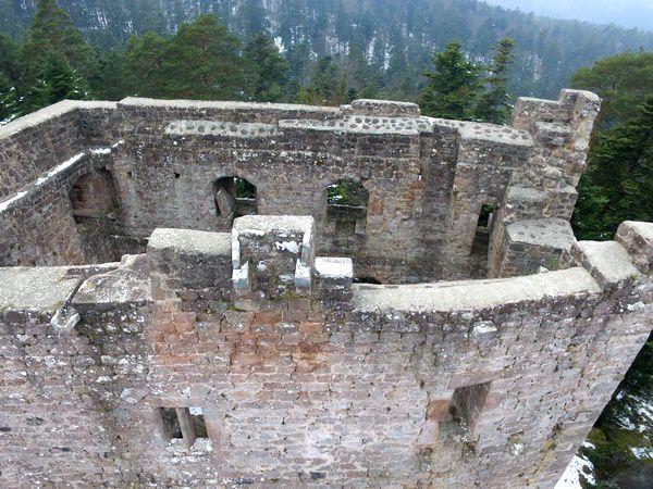 Le château de Birkenfels, vu du ciel