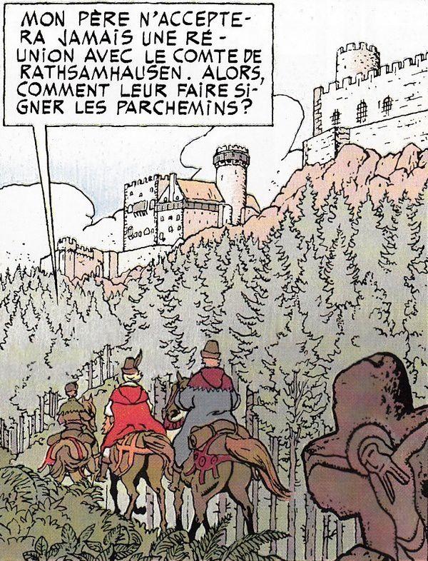 Jhen Roque séjourne aux châteaux d'Ottrott