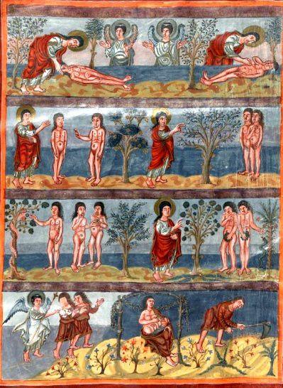 Image tirée de la Bible de Moutier-Granval, British Library Londres