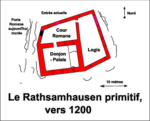 Les baies romanes du donjon-palais du Rathsamhausen
