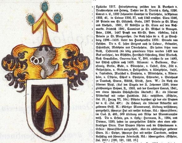 Armoiries et texte de Kindler von Knobloch