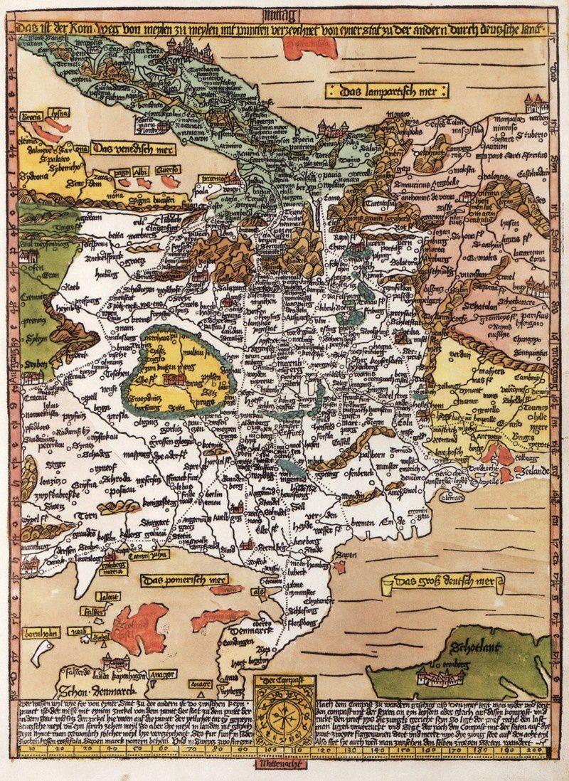 Romweg, carte de Etzlauber
