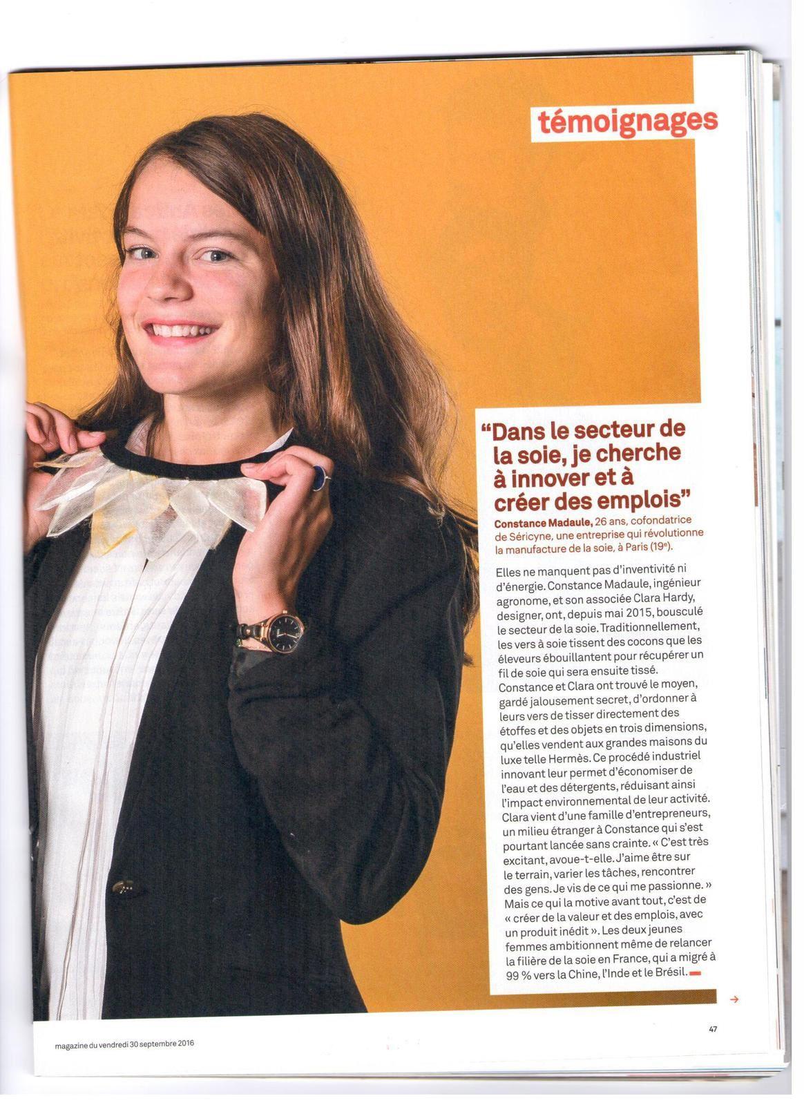 Vus et lus dans Femme Actuelle n° 1667 du 05/09/16, et Le Parisien Magazine n0 22416 du 30/09/16