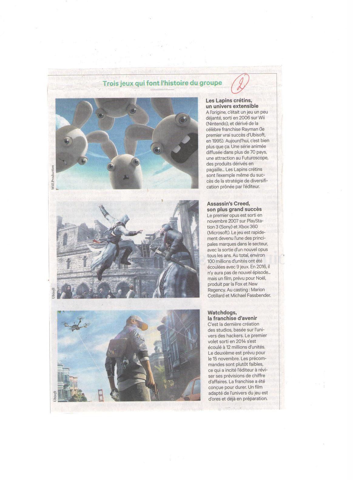 Vus et lus dans Libération du 29 septembre 2016, Les Echos du 24 octobre et du 07 novembre 2016