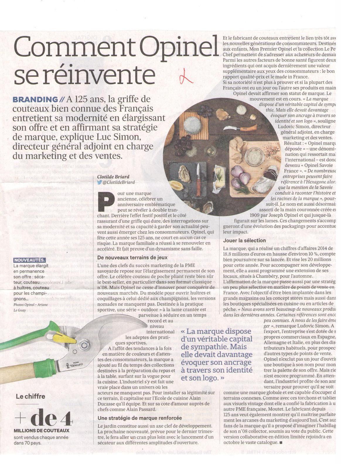 Vus et lus dans Mag'in France n° 4 de novembre-décembre 2016, et les Echos du 31 août 2015