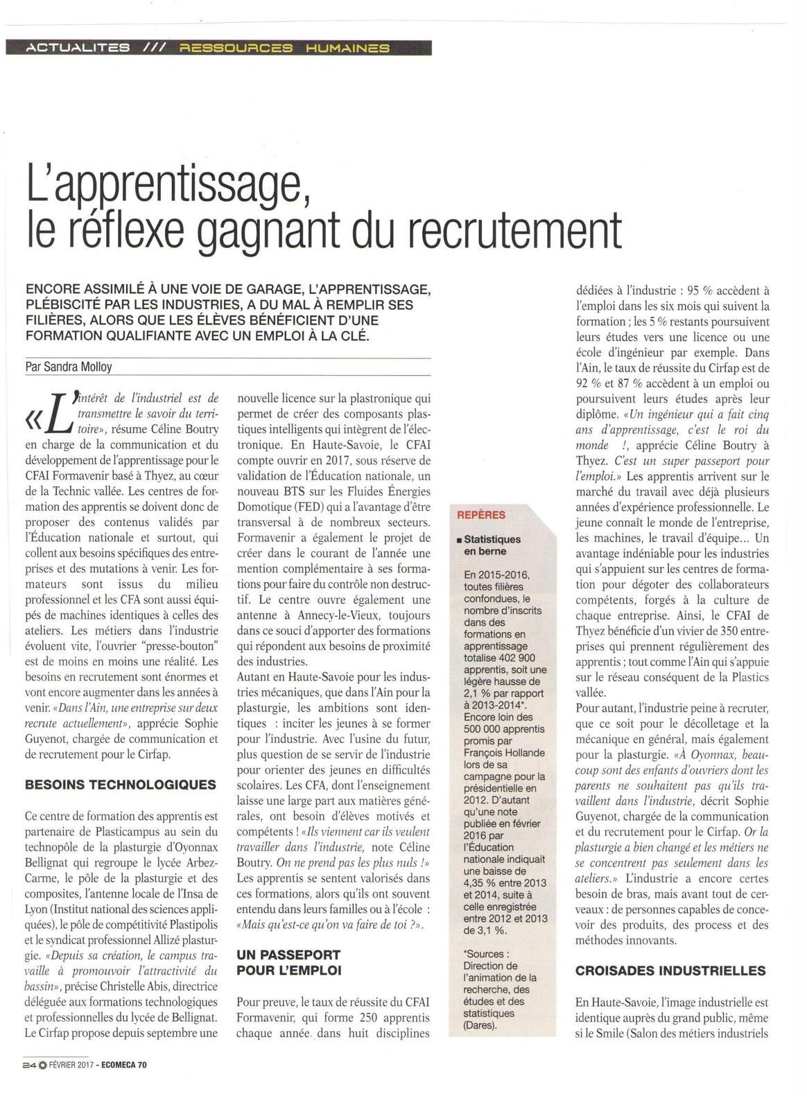 Vu et lu dans Le Monde du 31 août 2017, Ecomeca de février 2017, et Cnewsmatin du 06 septembre 2017