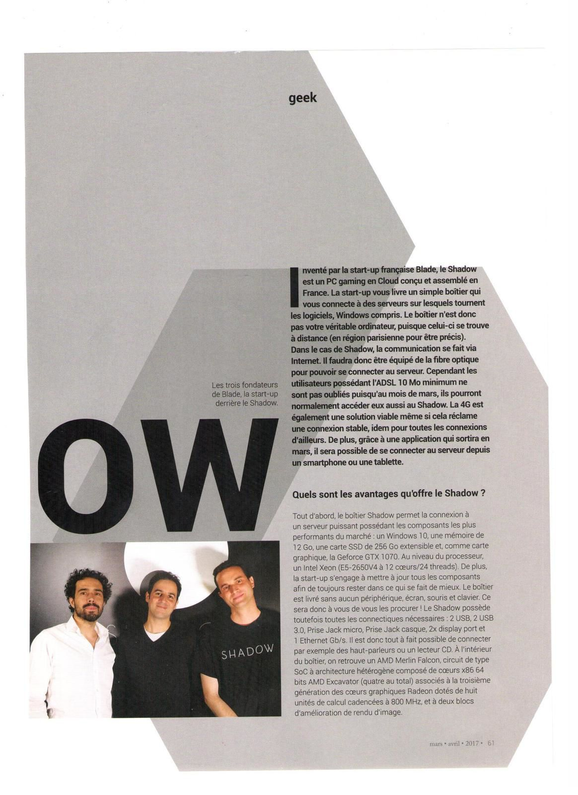 Vu et lu dans Mag'in France n°6 de mars/avril 2017