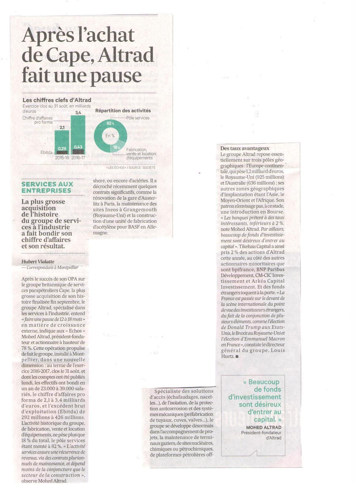Vu et lu dans Les Echos du 29/04/17