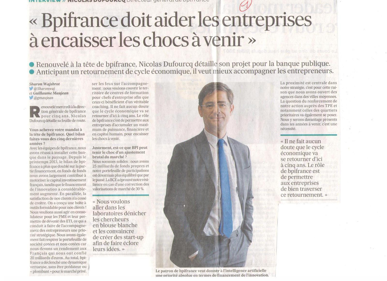 Vus et lus dans Les Echos du 05/12/17, et du 01/02/18