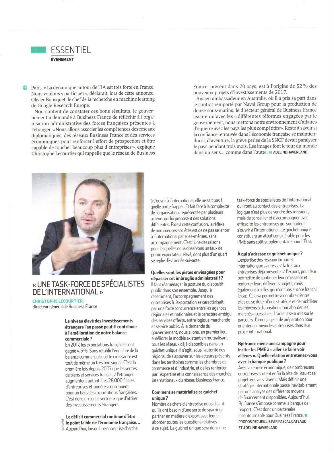 Vu et lu dans l'Usine Nouvelle n° 3557 du 05/04/18
