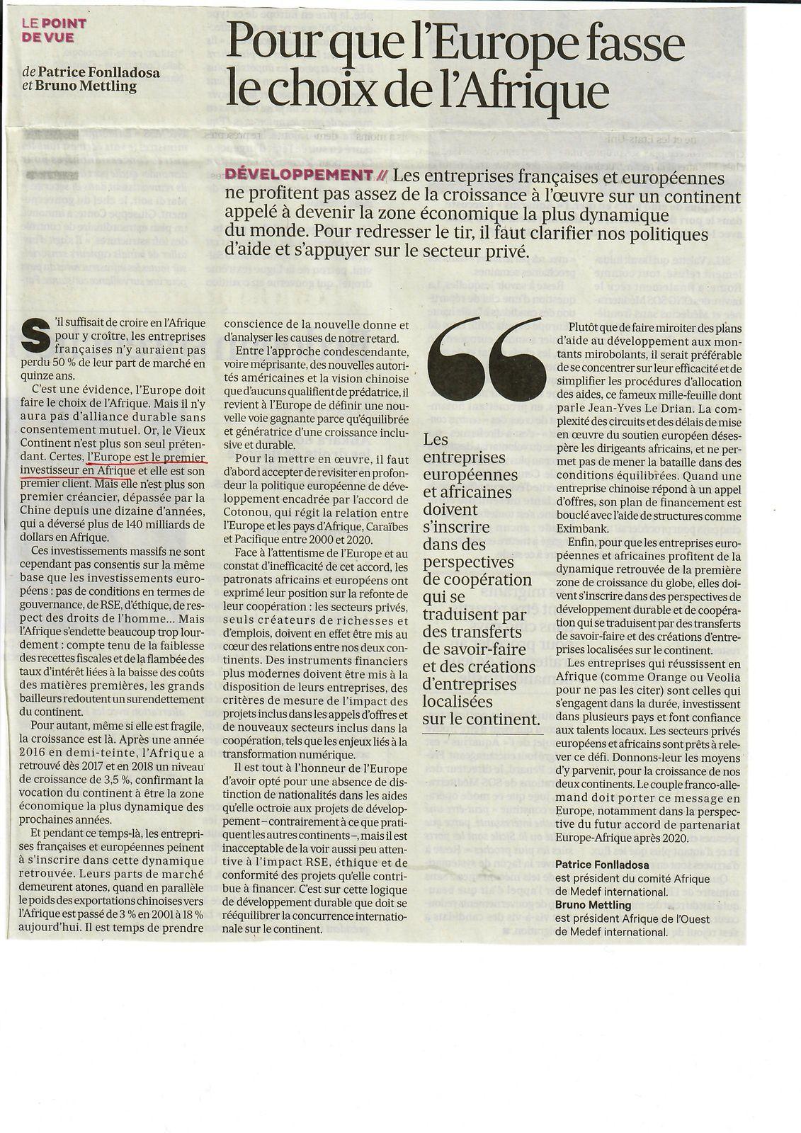 Vus et lus dans Les Echos du 16/08/18 et du 17/09/18