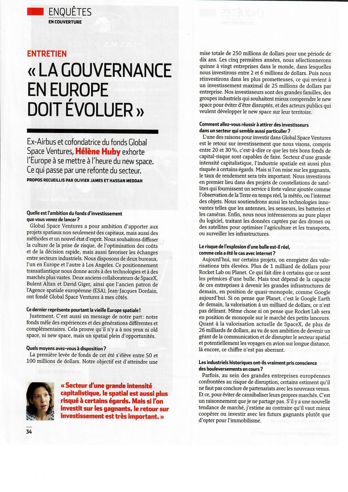Vus et lus dans Les Echos du 25/06/18, du 05/10/18, et dans l'Usine Nouvelle n° 3573 du 30/08/18