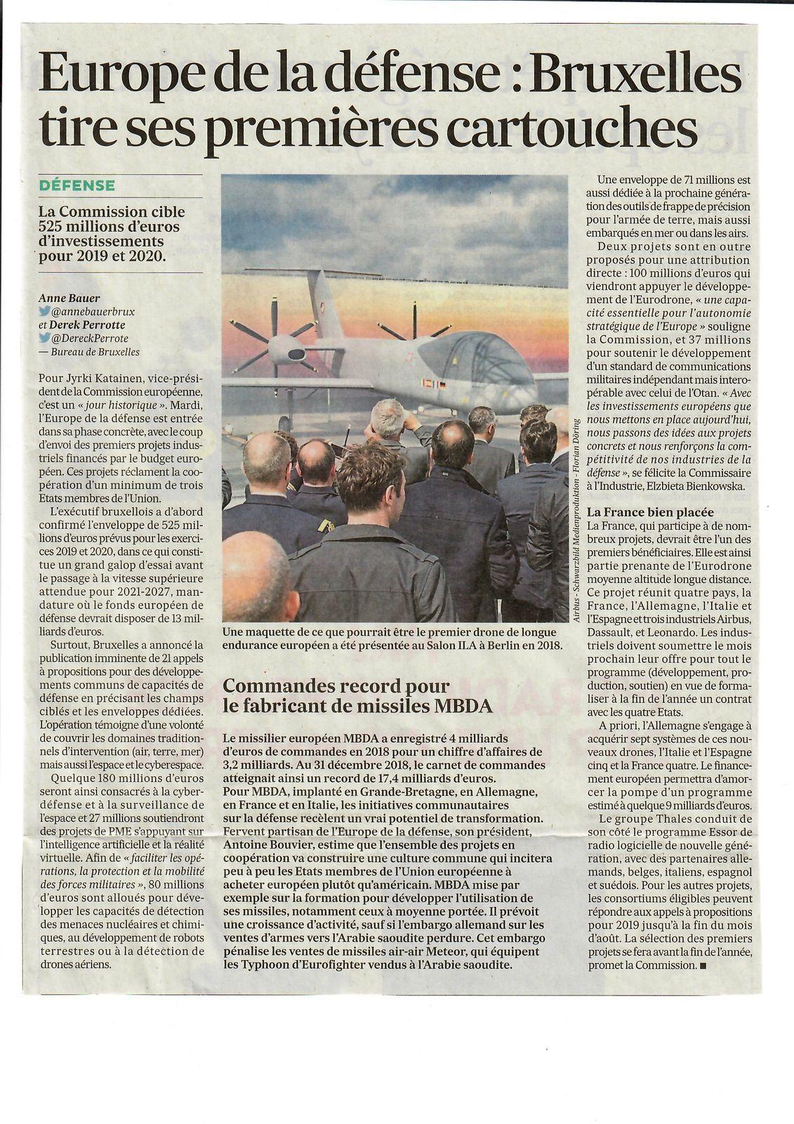 Vus et lus dans Les Echos du 25/05/18 et du 20/03/19