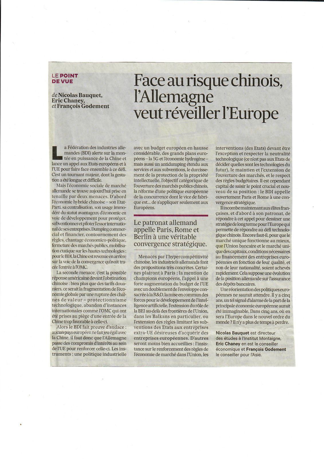 Vus et lus dans Les Echos du 23/01/19 et du 13/03/19, et L'Usine Nouvelle n° 3599 du 21/02/19