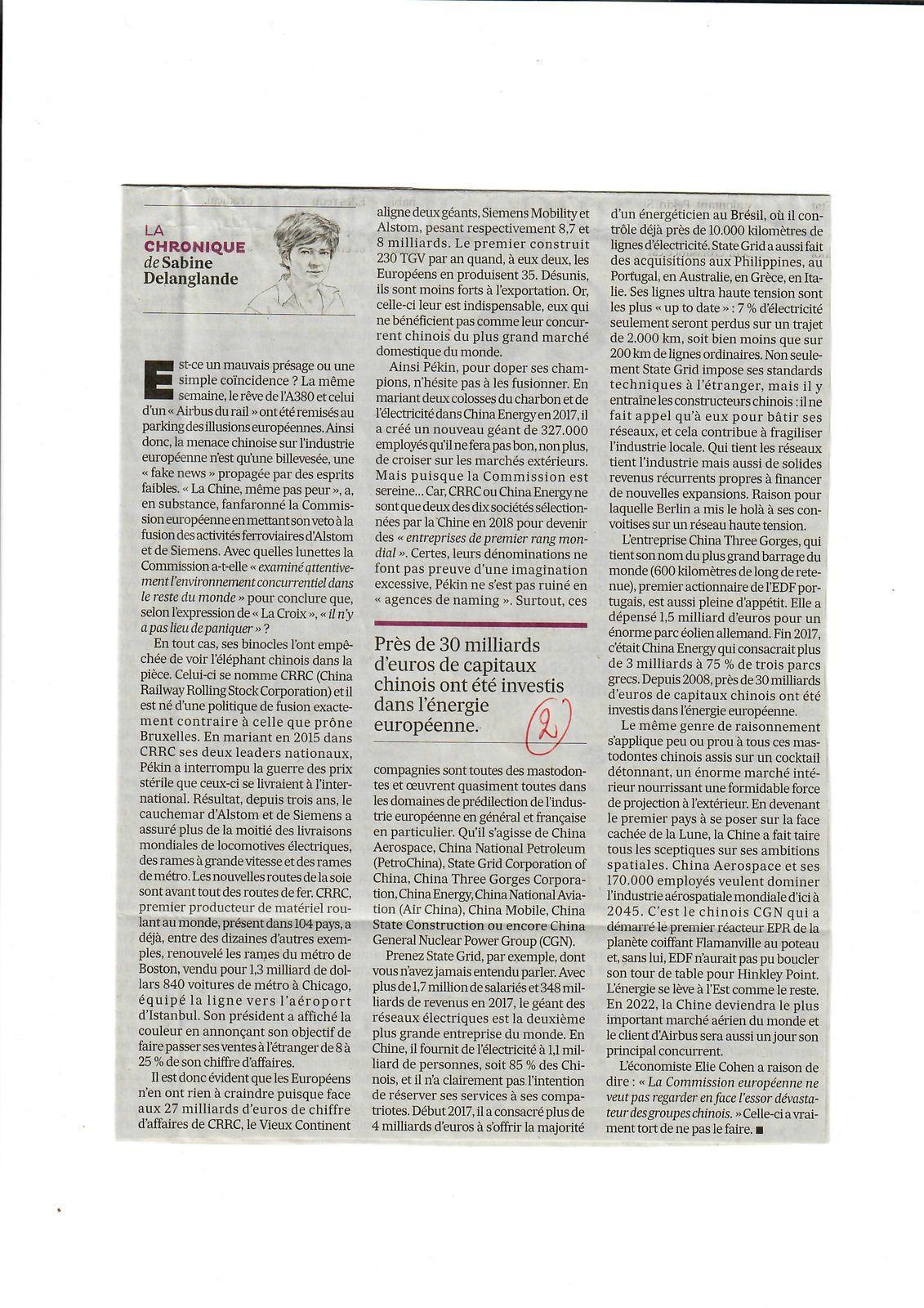 Vus et lus dans Les Echos du 27/02/19