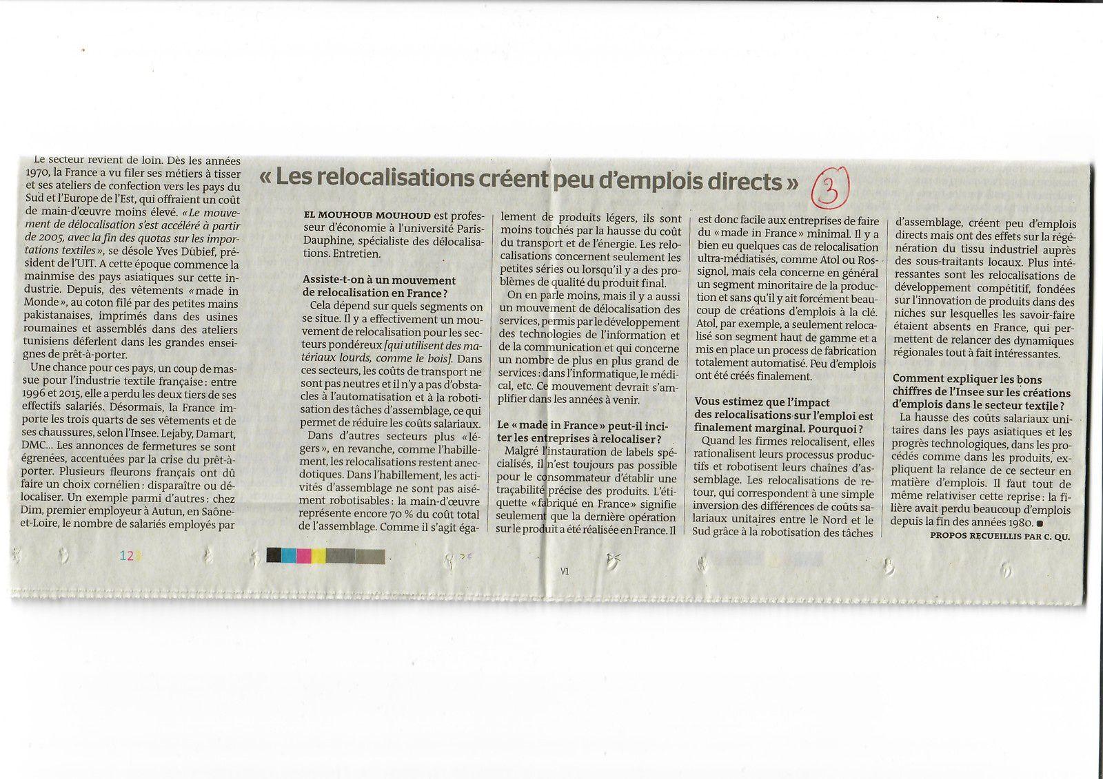 Vus et lus dans Le Monde du 09/04/19