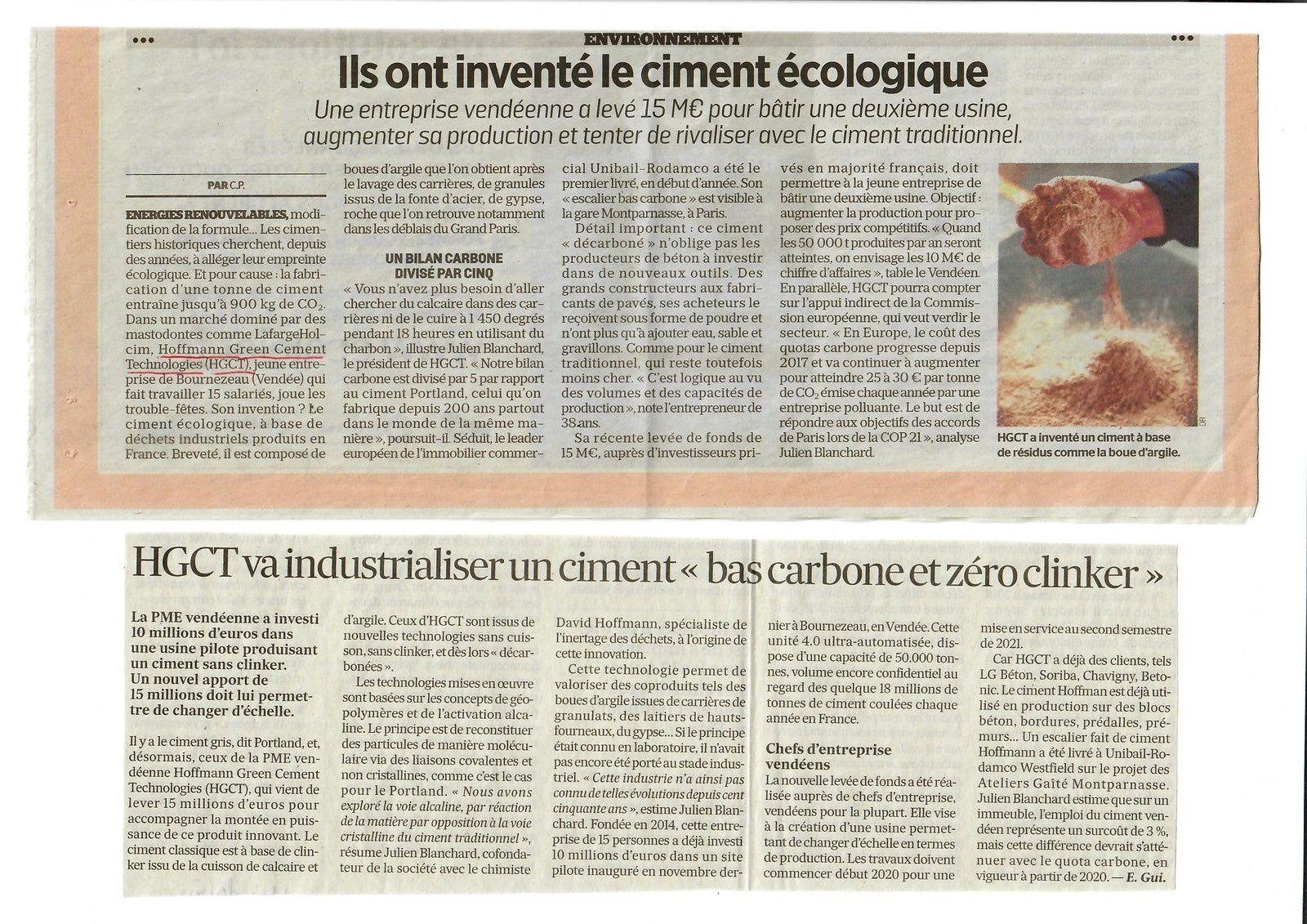Vus et lus dans Le Parisien Eco du 24/06/19, et Les Echos du 13/06/19