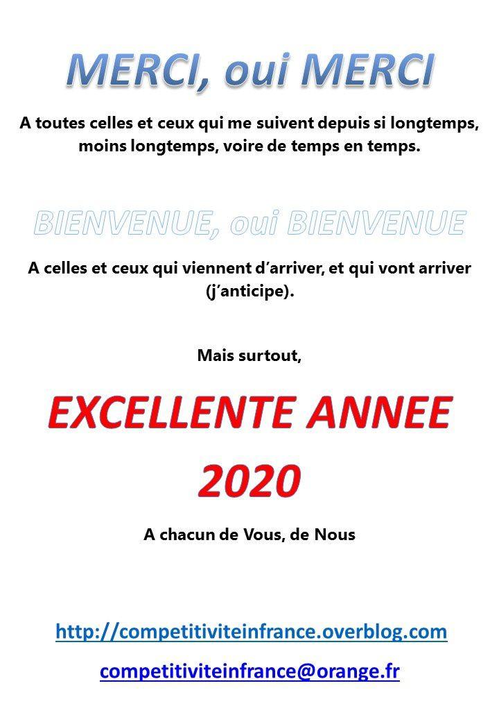EXCELLENTE ANNEE 2020