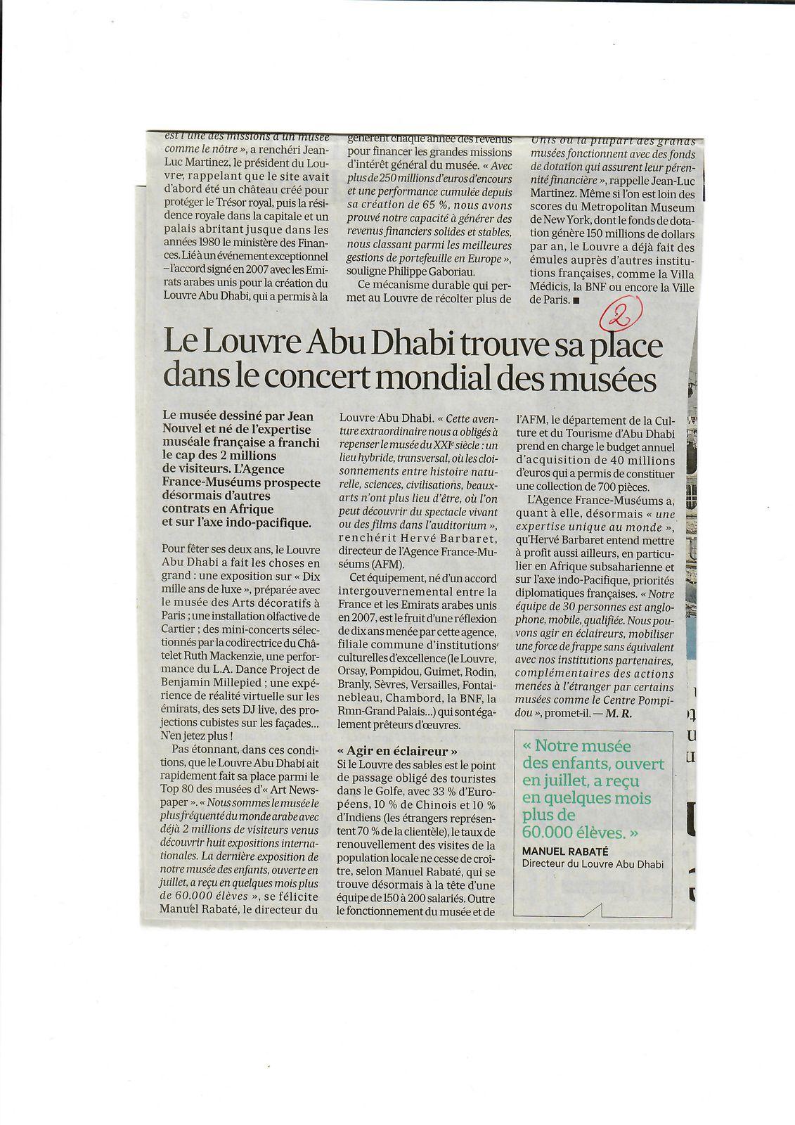 Vus et lus dans Les Echos du 10/12/19