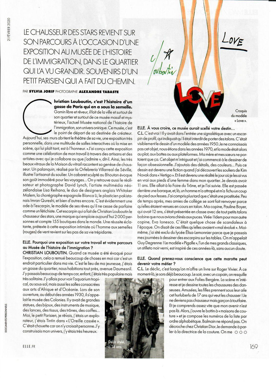 Vu et lu dans Elle n° 3870 du 21/02/20