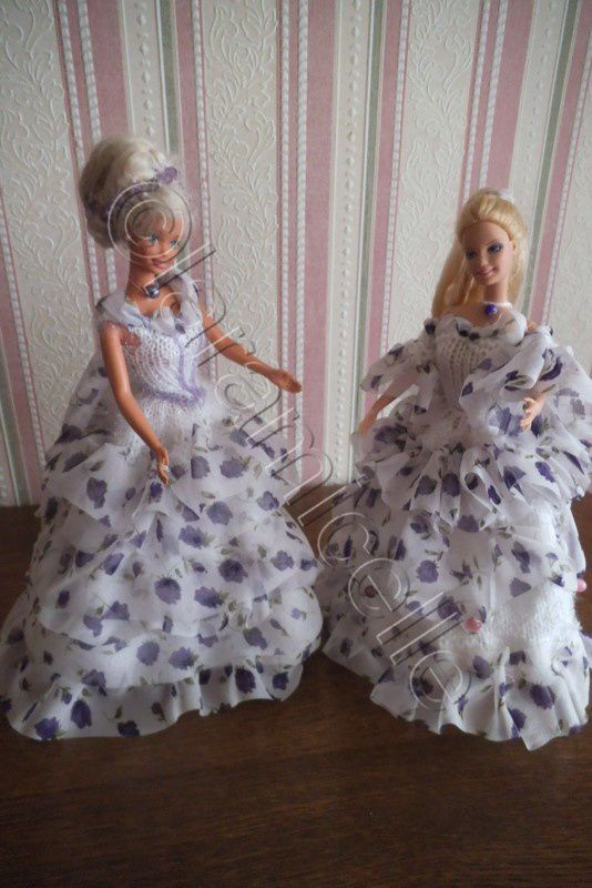 tuto gratuit barbie : tenue princesse Cindy