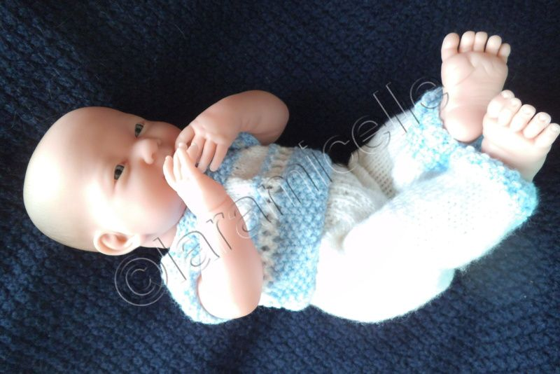 tuto gratuit bébé Bérenguer: pull ajouré à empiècement rond et faux raglan