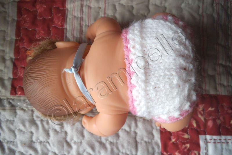 tuto gratuit bébé paola : petite couche