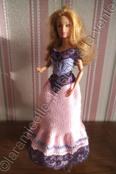tuto gratuit barbie : robe longue lilas