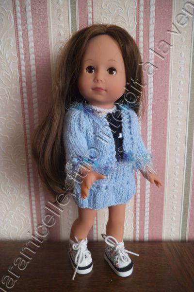 tuto gratuit poupée : petite veste bord à bord